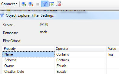 object-explorer-filter-config